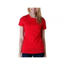 Round Neck Short Sleeve T-Shirt - Red