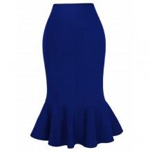 Polish Cotton Beautiful Bodycon Ghana Made Skirt - Blue