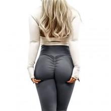 Fitness Pants Butt Lifter Leggings - Grey