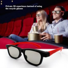 G66 Passive 3D Polarized Lenses Glasses For Cinema - Black/Red
