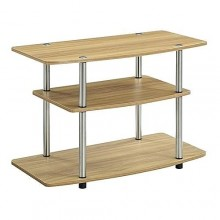 Simple 3 Tier TV Stand - Brown