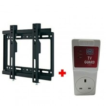 "Wall Mount Bracket for 14''-42"" LED/LCD/Plasma TV - Black + TV Guard - White"