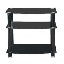 Simple Home Entertainment TV Stand - Black
