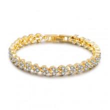 Fashion Artificial Diamond Studded Bracelet - Gold