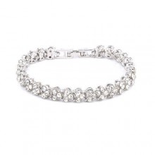 Artificial Diamond Studded Bracelet - Silver