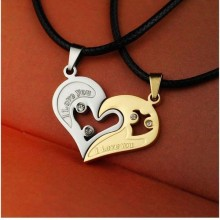 Pendant Necklace - Silver/Gold