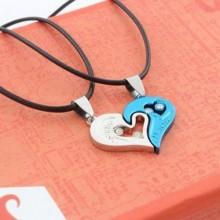 2-piece Necklace - Silver/Blue
