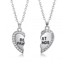 2-Piece Pendant Necklace - Silver