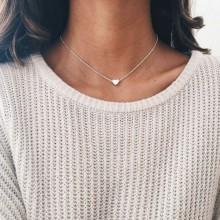 Women's Vintage Heart Shape Pendant Necklace - Gold