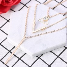 Multi-layer Clavicle Chain Collar Necklace - Gold
