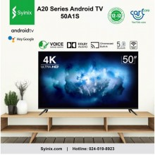 """Syinix 50A1S 【Smart Android】4K/UHD TV with Google Assistant - 50"""" Black"""