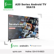 "Syinix 50A1S 【Smart Android】4K/UHD TV with Google Assistant - 50"" Black"