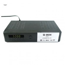 Q Box Digital/Satellite Combo Decoder - Black
