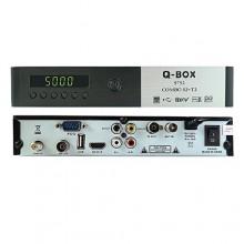 Q Box Digital/Satellite Combo Decoder - Black