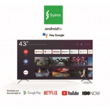 "Syinix 43A1S Smart Wireless & Bluetooth Android TV With Google Assistant - 43"" Black"