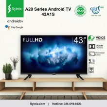 """Syinix 43A1S Smart Wireless & Bluetooth Android TV With Google Assistant - 43"""" Black"""
