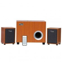 Triple Power New C20 Extra Bass USB Bluetooth Speaker With Remote - Brown