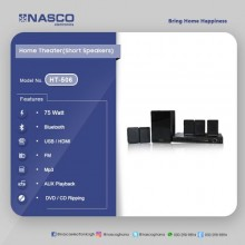 Nasco HT-506S Home Theater System - 5.1 Channel Black