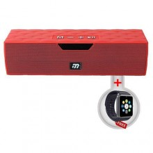 Musyl Portable Bluetooth Speaker - Red + Free Smart Watch - Black