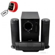 6030 3.1 Bluetooth Home Theatre With Remote Control - Black + Free Smartwatch