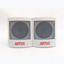 Artus Portable Lapto/ Phone Speakers - White