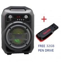Karoake Bluetooth BS-12 USB Portable Speaker + Free 32GB Pen Drive