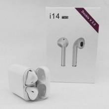 TWS I14 Earphone Wireless V5.0 In-ear Sport Headset -White