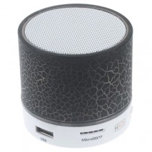 LED Portable Bluetooth Speaker - 300mAh Black