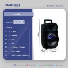 Nasco NASD-200 8 Watts RMS Bluetooth Speaker - Black
