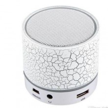 LED Mini Portable Bluetooth Speaker - 300mAh White