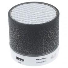LED Mini Portable Bluetooth Speaker - 300mAh Black