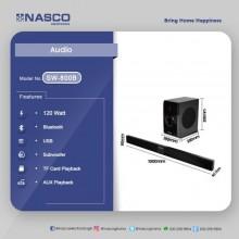 Nasco SW-800B Audio Soundbar - Black