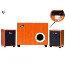 Triple Power C20 Shock Super Bass Bluetooth Subwoofer with FM - Brown