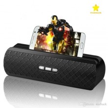 Wireless Bluetooth Speaker With Phone Stand - Black