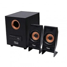 New C10 Plus Bluetooth Super Bass 2.1 USB Subwoofer With Remote Control - Black/Gold