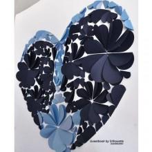 Wedding Guest Book - Sea Blue/Navy Blue