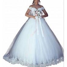 Elegant Ball Wedding Gown - White