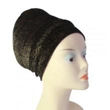 Puffy Turban – Brown/Black