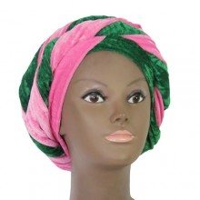 Cap Turban - Pink/Green