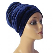 Puffy Turban – Dark Blue