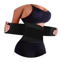 Adjustable Abdominal Waist Trainer/Hot Shaper - Black