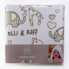 Newborn Hooded Blanket/Bath Towel - White