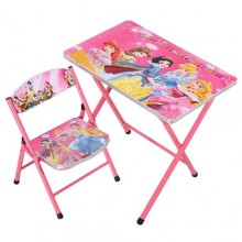 Kids Foldable Learning Table & Chair - Pink