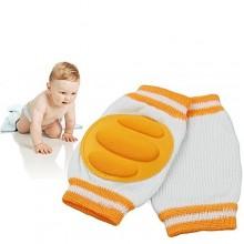 Baby Protective Crawling Knee Pads - Orange/White