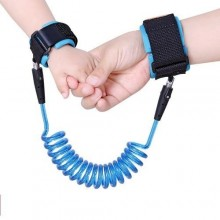 Baby Child Anti Lost Safety Wrist Link Traction Rope - 1.5m - Blue