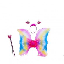 3-in-1 Butterfly Costume Wings Set - Multicolour