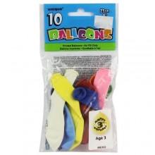 """10 Pieces of 12"""" Happy Birthday Balloons - Multicolor"""