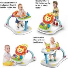 4-in-1 Multi Functional Entertainer Baby Walker - Multicolour