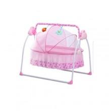 Prima Electric Auto-Swing Baby Cradle Safe Crib Infant Rocker - Pink