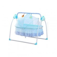 Prima Electric Auto-Swing Baby Cradle Safe Crib Infant Rocker - Blue